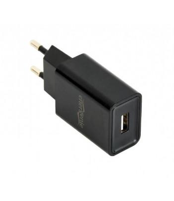 Ładowarka sieciowa Gembird 1 port USB 2.1A (czarna)