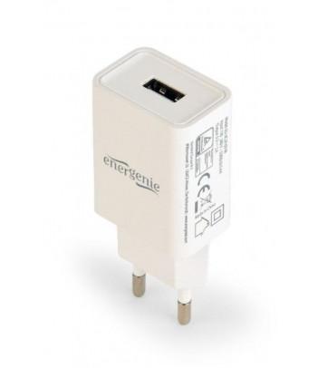 Ładowarka sieciowa Gembird 1 port USB 2.1A (biała)