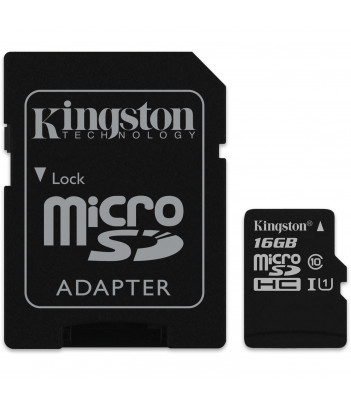 Karta pamięci microSDHC Kingston Canvas Select Class C10 UHS-1 16GB + adapter SD