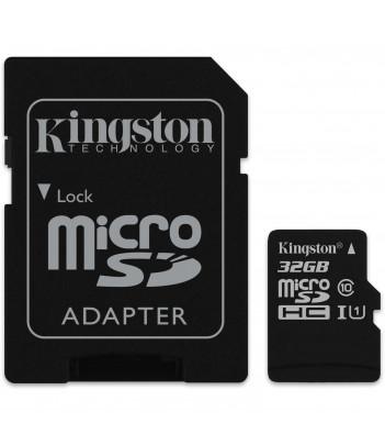 Karta pamięci microSDHC Kingston Canvas Select Class C10 UHS-1 32GB + adapter SD