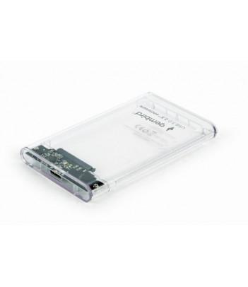 """Obudowa zewnętrzna Gembird EE2-U3S9-6 na dysk 2.5"""" SATA HDD USB 3.0 (przezroczysta)"""
