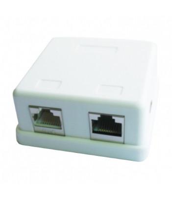 Gniazdo natynkowe FTP Gembird NCAC-FS-SMB2 2x RJ-45, kat. 6