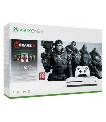 Konsola Xbox One S 1TB z grami Gears 5, Gears of War Ultimate, Gears of War 2,3,4
