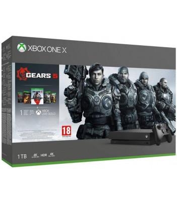 Konsola Xbox One X 1TB z grami Gears 5, Gears of War Ultimate, Gears of War 2,3,4