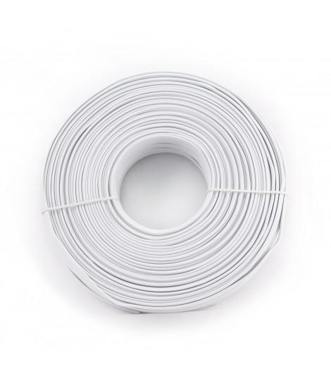 Kabel telefoniczny, płaski Gembird TC1000S-100M biały (100 m)