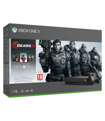 Konsola Xbox One X 1TB z grami Gears 5, Gears of War Ultimate, Gears of War 2,3,4