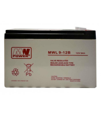 Akumulator żelowy MW Power MWL9-12B Long Life (10-letni)