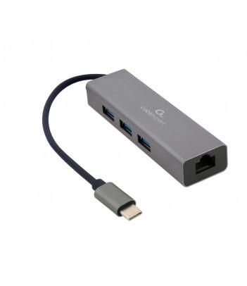 Hub USB 3.0 Gembird A-CMU3-LAN-01 z kartą sieciową
