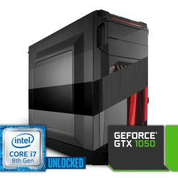 Komputer NTT Game Intel Core i7K 8-gen + GTX 1050