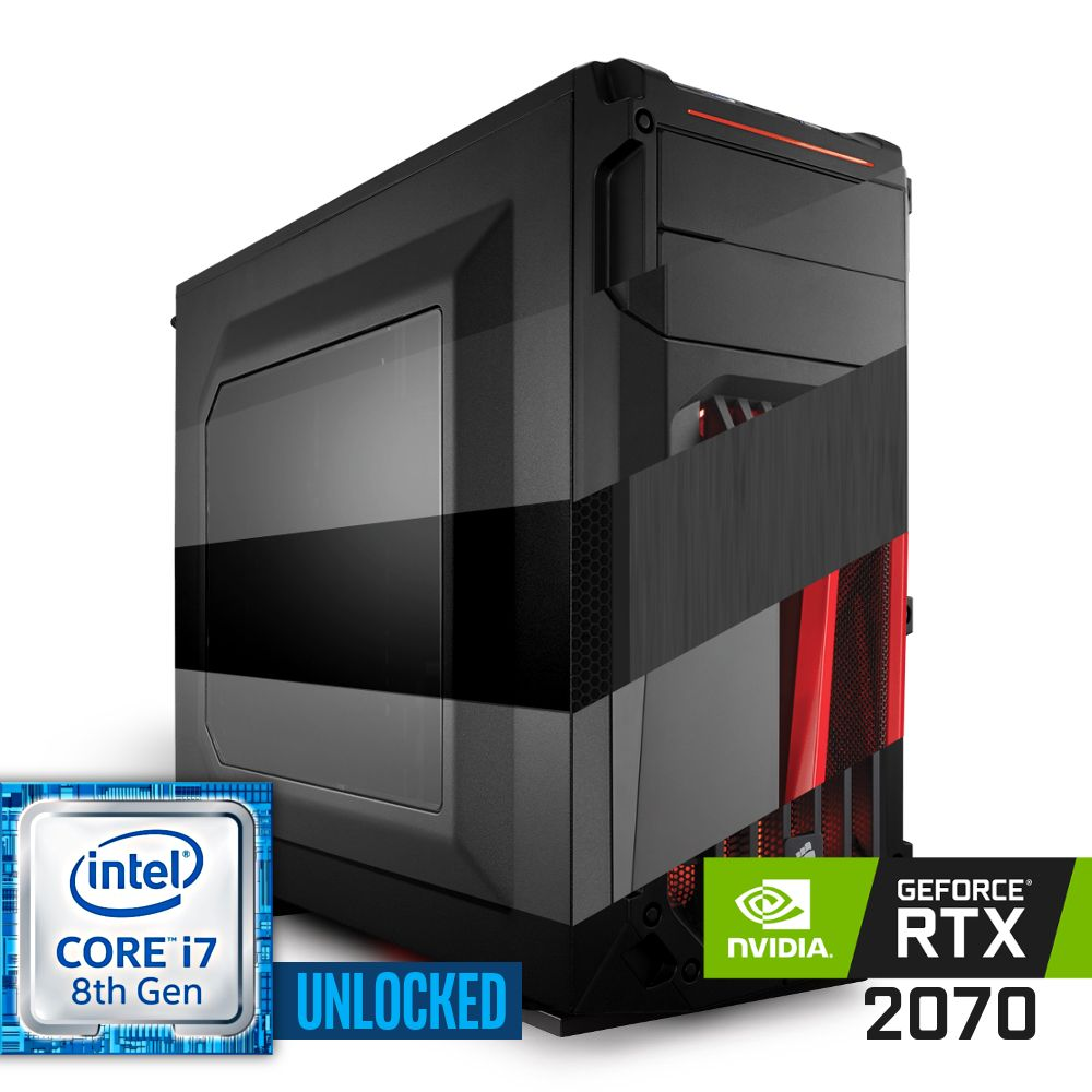 Komputer NTT Game R Intel Core i7K 8-gen + RTX 2070