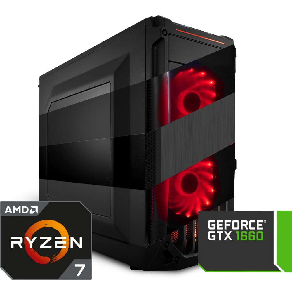Komputer NTT Game AMD Ryzen 7 1700 + GTX 1660